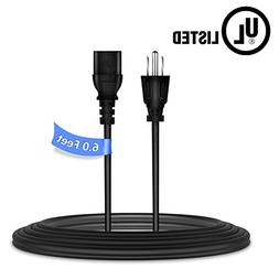 PwrON 6ft/1.8m UL Listed AC Power Cord Outlet Socket Cable P