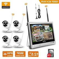 Wireless Home Surveillance Camera System - Forcovr 4 Channel