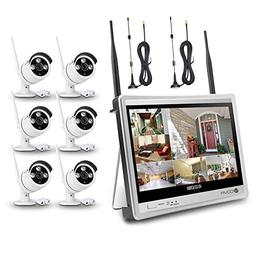 Wireless Surveillance Camera System Forcovr 8 Channel 1080P